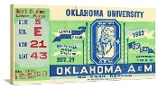 1952 OKLAHOMA VS. OKLAHOMA STATE Football Art. Oklahoma football gifts. http://www.oklahomafootballgifts.com/ The best Oklahoma football ticket gifts in America! #47STRAIGHT