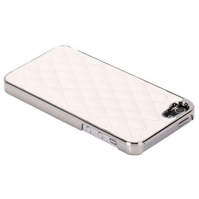 Rio - Chrome Edge (Valkoinen) iPhone 5S Suojakuori - http://lux-case.fi/rio-chrome-edge-valkoinen-iphone-5-suojakuori.html
