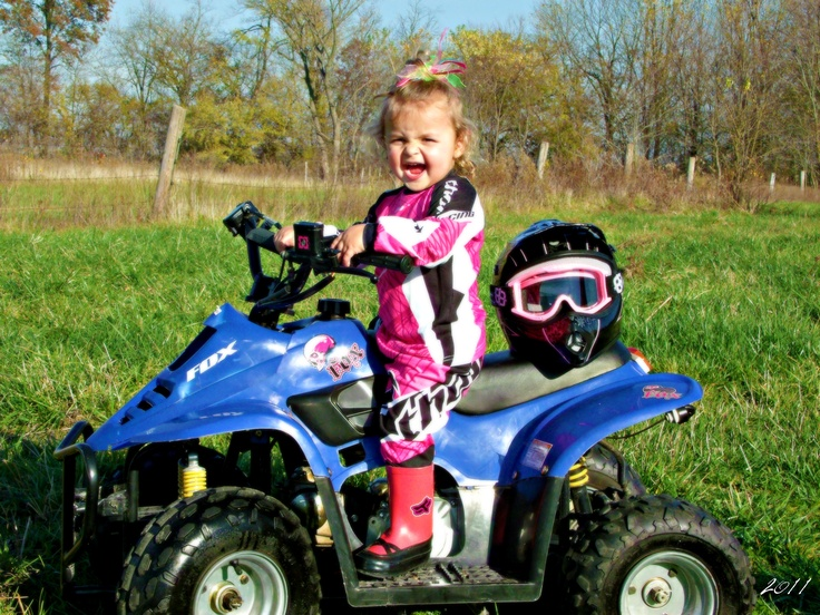 Fox racing kind of girl !........im pretty sure if me n aaron had a kid this would be a close match