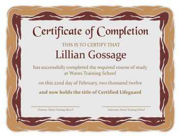 Free Certificate Templates including Certificate of Appreciation, Certificate of Completion and Certificate Borders.