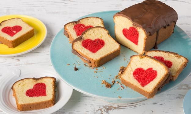 Rührkuchen mit Herz / Surprice inside cake / Patch cake