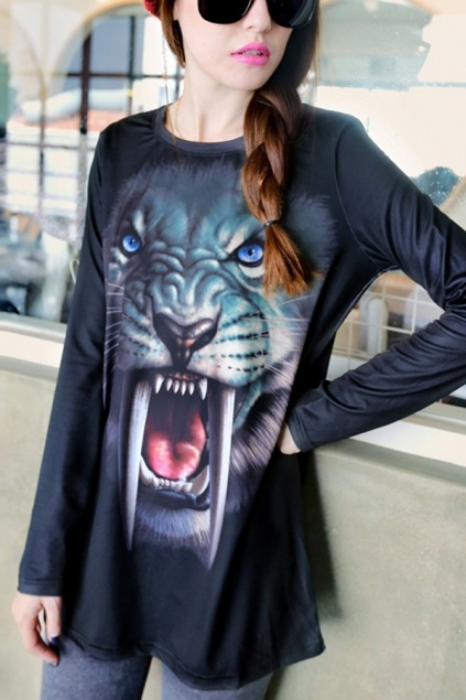 hahaha great. Wild Animal Print T-shirt