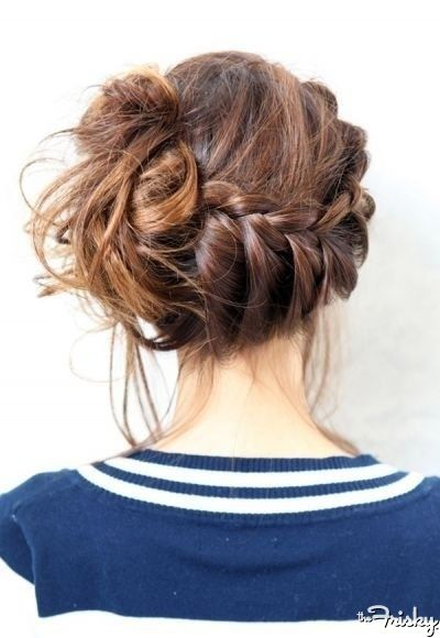 coolest of them all, bun with a braid