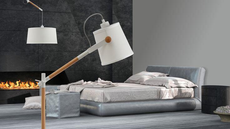 Rodzina lamp Zuma Line NORDICA to ciekawe połączenie tworzywa sztucznego z drewnem w skandynawskim stylu. Uniwersalny kolor lampy sprawia, że będzie ona doskonałym dodatkiem do wystroju każdego salonu i pokoju.