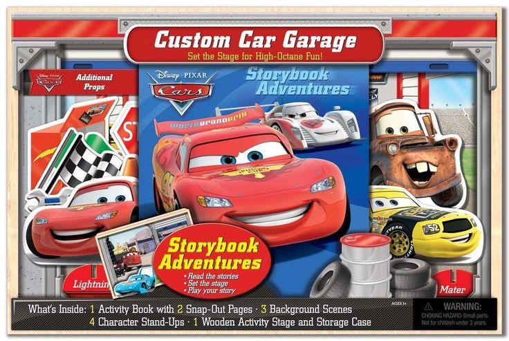 Disney Pixar Cars Deluxe Custom Car Garage Giftset!! NEW