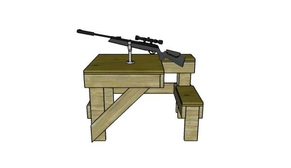 Shooting Table Plans | MyOutdoorPlans | Free Woodworking Plans and Projects, DIY Shed, Wooden Playhouse, Pergola, Bbq