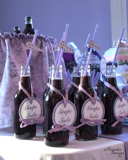 Charming Everything Purple Baby Shower Party Ideas