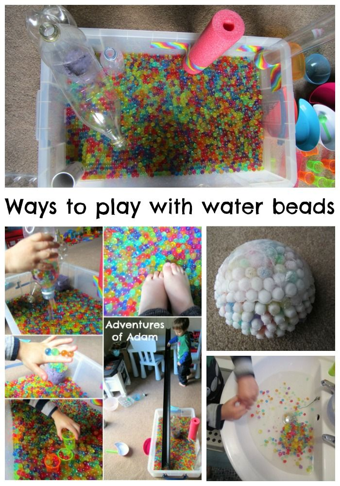 Day 25 - Water Beads Ways To Play With Water Beads | http://adventuresofadam.co.uk/ways-to-play-with-water-beads/