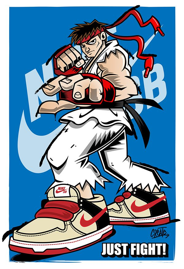 Even though I could barely beat anyone in street fighter i still love this game and its characters some of the most iconic characters in video game history. This mashup was based of the iconic character RYU and Mashed up with his official nike SB sneake…