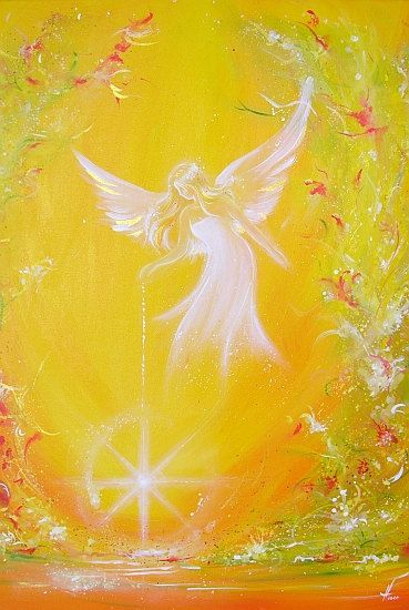 "Limited angel art photo ""I give you light"" , abstract angel painting, Engelbild, moderne Engel"