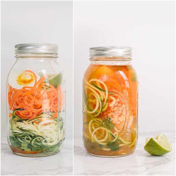 Instant Cup of Noodles with Spiralized Vegetables - Weight Watchers SmartPoints: 4 points