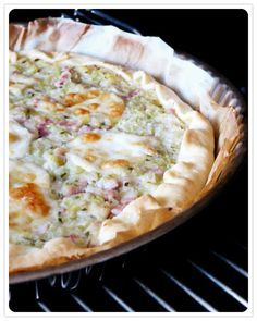 Tarte courgettes, lardons, citron et mozzarella Recette de Cyril Ligniac
