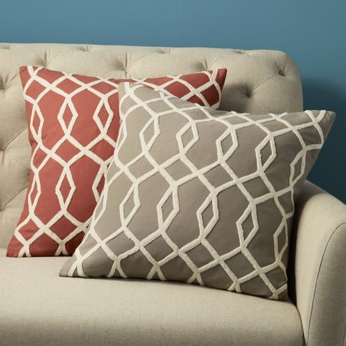 Beige/grey accent pillow for living roomCoral Pillows, Pillows Covers, Dining Room, Room Colors, Accent Pillows, Throw Pillows, Living Room Pillows, Couch Pillows, West Elm