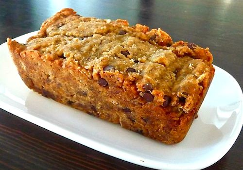 Banana Bread Ingredients: ⅓ cup  unsweetened applesauce  ½ cup natural honey  ½ tbsp.pure vanilla  ¾ cup  almond flour  ¾ cup  coconut flour  ¼ cup flax seed meal  ½ tsp  sea salt  1 cup mashed bananas  2 tbsp.  ground chia seeds  (soaked in 6 tbsp. of water. Let soak until consistency of raw egg whites)
