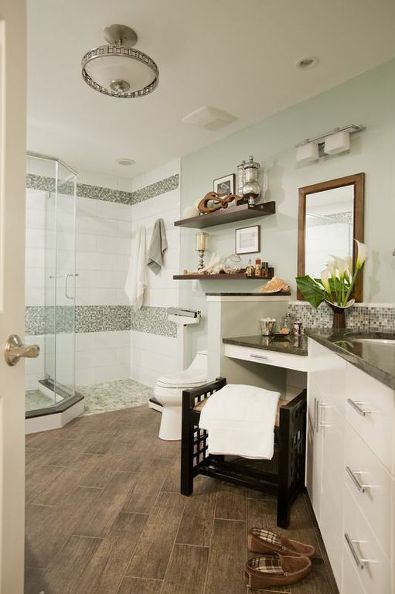 master bedroom spa and coastal inspired, bathroom ideas, design d cor, After The look is much larger prettier and a more functional space