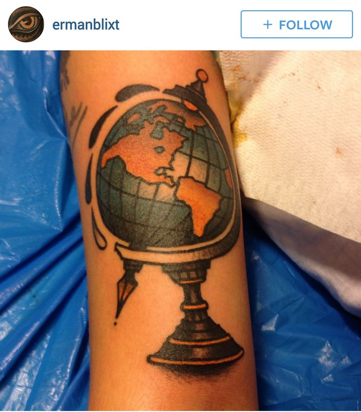 142 best images about Globe & World Tattoos on Pinterest ...