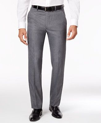 Alfani Men's Traveler Solid Slim-Fit Pants, Created for Macy's - Suits & Suit Separates - Men - Macy's
