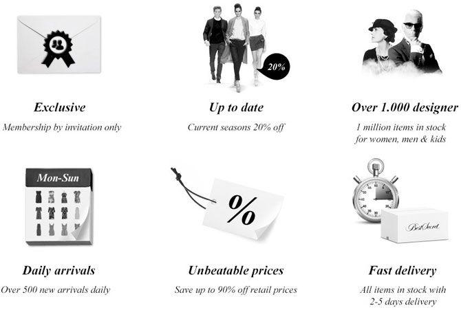 Designer Fashion up to 80% cheaper!