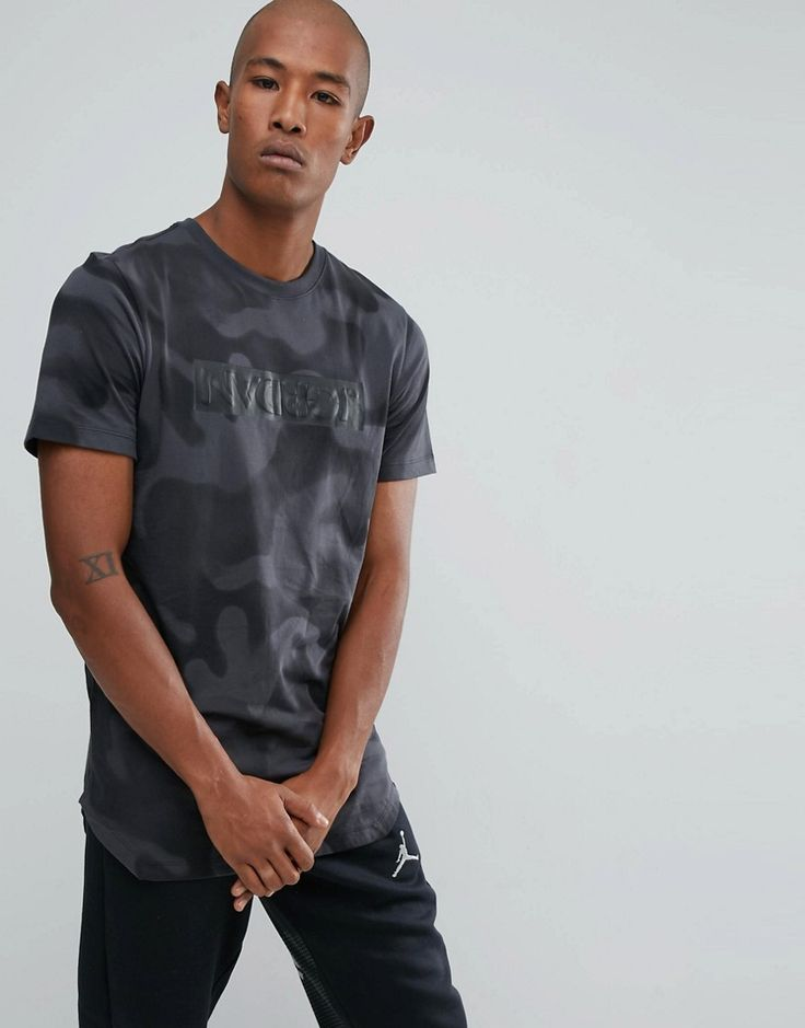 Get this Jordan's printed t-shirt now! Click for more details. Worldwide shipping. Nike Jordan Camo T-Shirt In Black 864925-060 - Black: T-shirt by Jordan, Supplier code: 864925-060, Soft-touch cotton, Camo print, Crew neck, Raised Jordan branding to chest, Short sleeves, Fixed cuffs, Curved hem, Regular fit - true to size, Machine wash, 100% Cotton, Our model wears a size Medium and is 191cm/6'3 tall. Ever since his game-changing jump shot sealed the 1982 NCAA Championship, Michael Jordan…