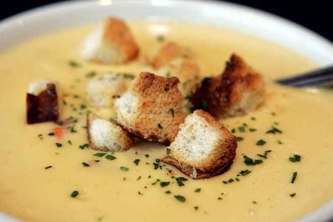 St. Frances Brewery and Restaurant beer cheese soup - This sounds delicious for a cool fall evening.
