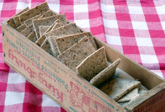 Wheat Thins recipe made from almond pulp (after making almond milk) - gluten free, grain free.