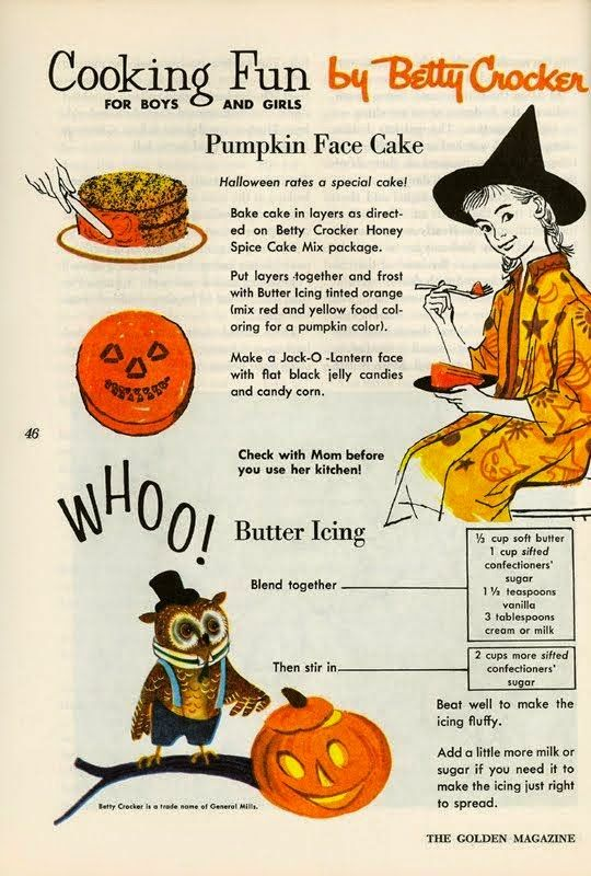 vintage halloween cooking fun with betty crocker - Betty Crocker Halloween Cookbook