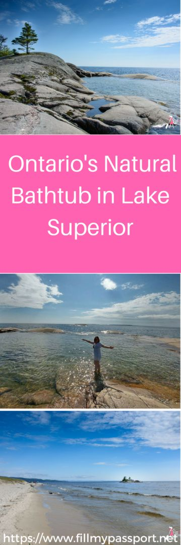 Bathtub island is a secluded sunken island right in the heart of Lake Superior located between Sault Ste. Marie and Wawa in Lake Superior Provincial Park.
