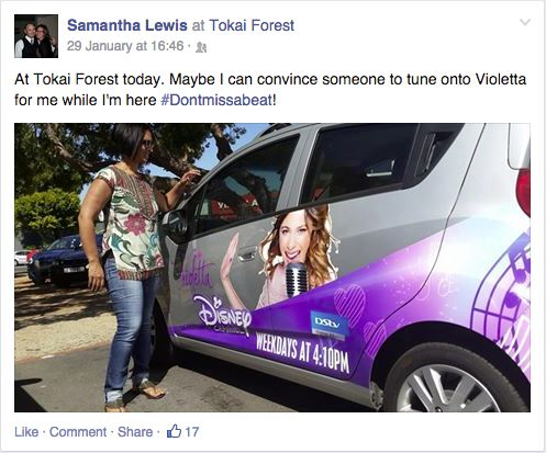 Samantha  still thinking about Violetta while she's out at the Tokai Forest #Dontmissabeat!