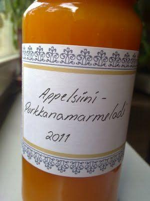 Päiväni Murmelina: Appelsiini-porkkanamarmeladi  mummoni teki tätä ja mä en osaa ;( saa auttaa ja laittaa vaikka selkokielisen ohjeen kanssa maistiaisia tulemaan.