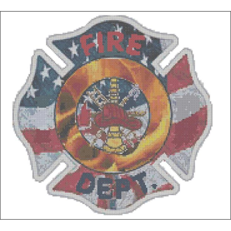 "Thank You Firefighters Counted Cross Stitch Kit-11.5""x11.5"" 14 Count"