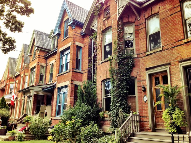 The Victorian row houses of cabbagetown.  Warm, inviting and each one has its own charm and style entirely.  The great thing with Cabbagetown is that every home is completely unique