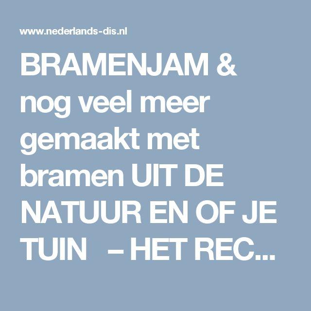 BRAMENJAM & nog veel meer gemaakt met bramen UIT DE NATUUR EN OF JE TUIN – HET RECEPTENBOEK VAN NEDERLANDS DIS