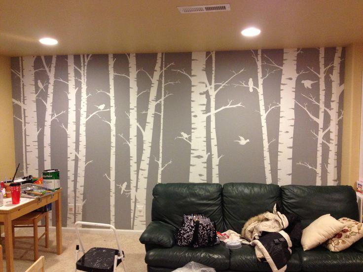 17 best ideas about birch tree mural on pinterest babies for Aspen wall mural