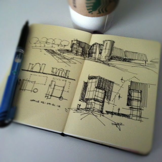 """Check out this guy's """"Coffeesketch"""" board – what a fantastic doodler! :)"""