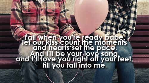 Fall Into Me Brantley Gilbert... this was Brian's and my wedding song... LOVE the lyrics!!
