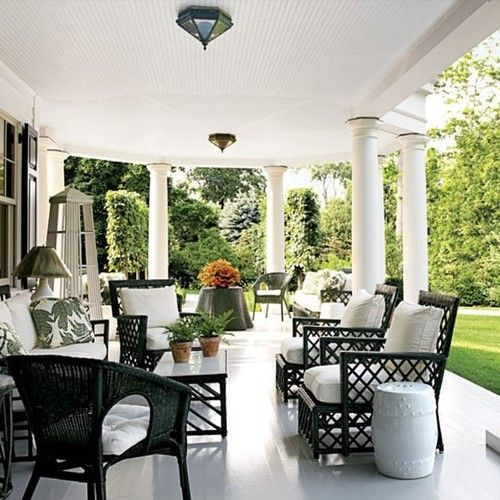Sunday afternoonwhere will you be chilling? Would be nice if theres a perfect colonial porch at home and an ice cold drinks by @armonia_living was liked by the outdoor wicker furniture experts! pinned by www.wickerparadise.com