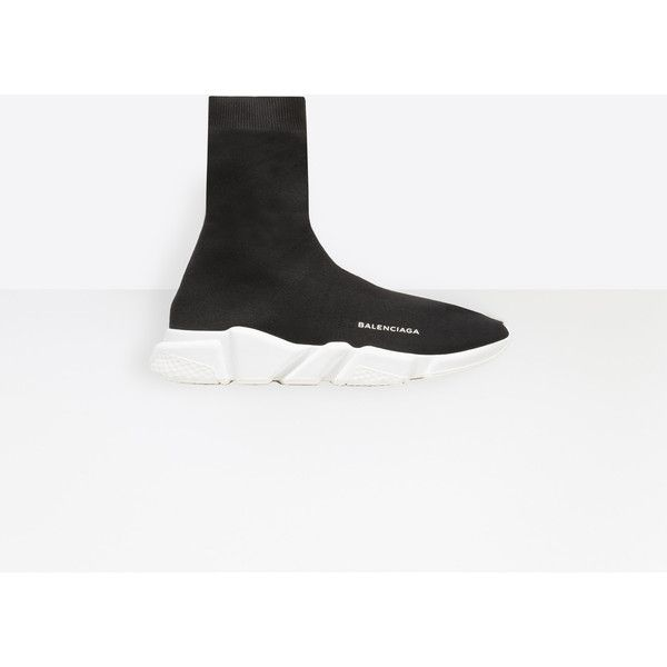 Balenciaga Speed Trainer ($750) ❤ liked on Polyvore featuring men's fashion, men's shoes, men's sneakers, black, man shoes speed shoes, balenciaga mens sneakers, mens black shoes, mens black sneakers and balenciaga mens shoes
