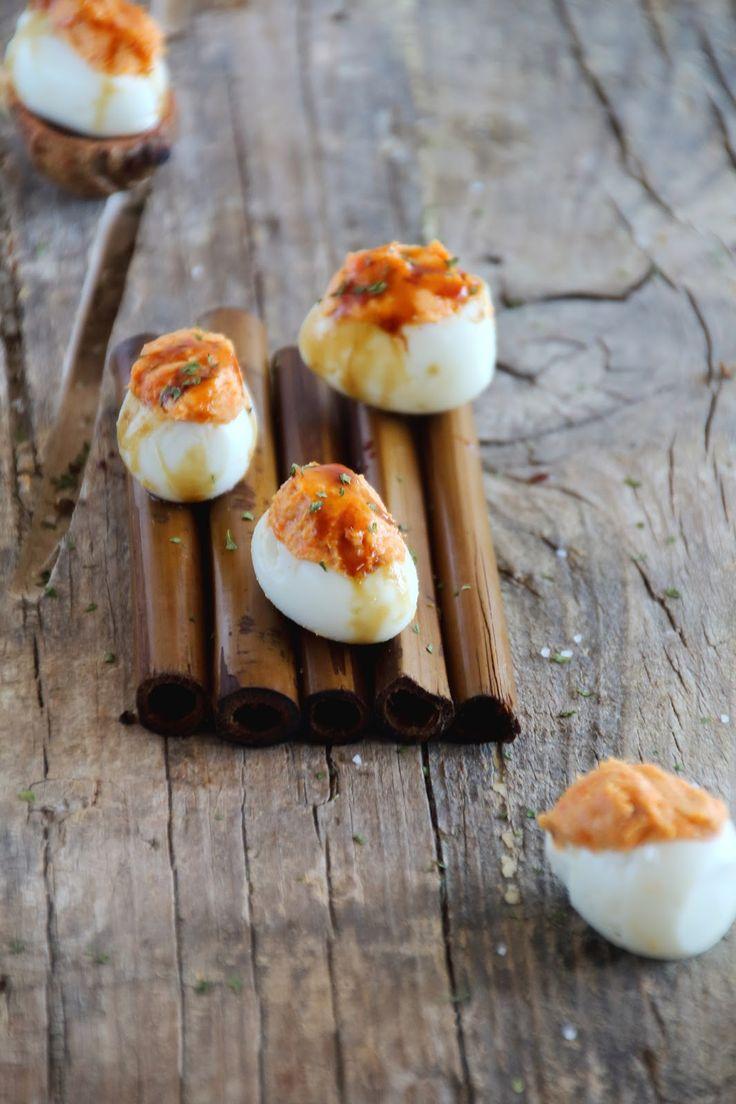 Mi Gran Diversión: Huevos rellenos de crema de sobrasada y miel