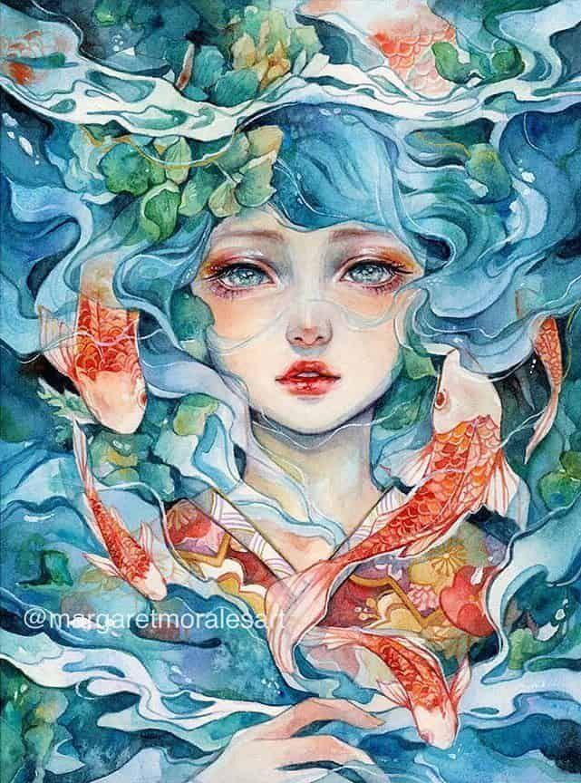 Artista Aquarela Margaret Morales - Arte no Papel Online ...