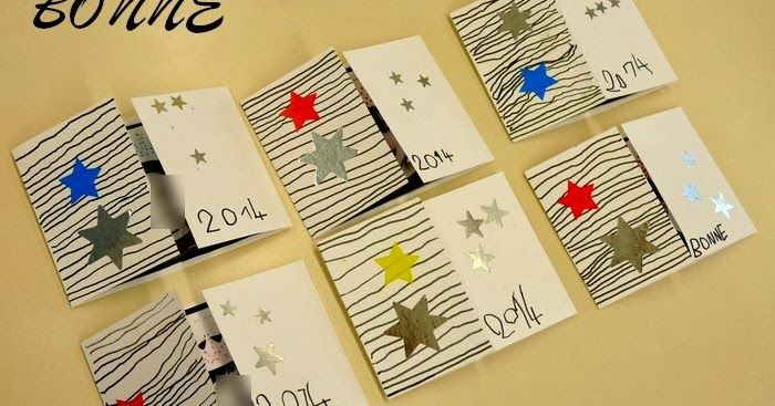 Voici la carte réalisée avec ma classe de moyenne section de maternelle pour cette nouvelle année 2014:       Dès la rentrée, j'ai fait deux...