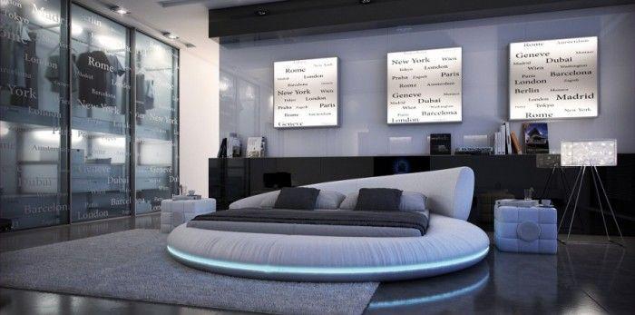 lit eau vanessa waterbed rond circle maisons. Black Bedroom Furniture Sets. Home Design Ideas