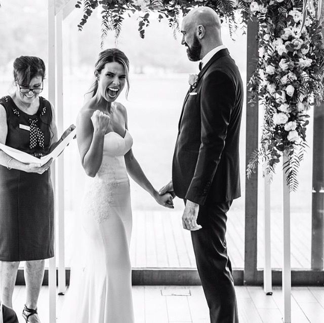 Happy wife, happy life as they say. Our custom Kate gown.