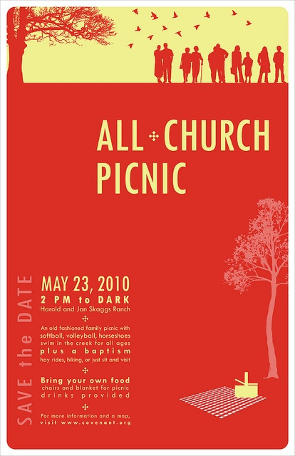 Church Picnic Poster by doublejdesign, via Flickr