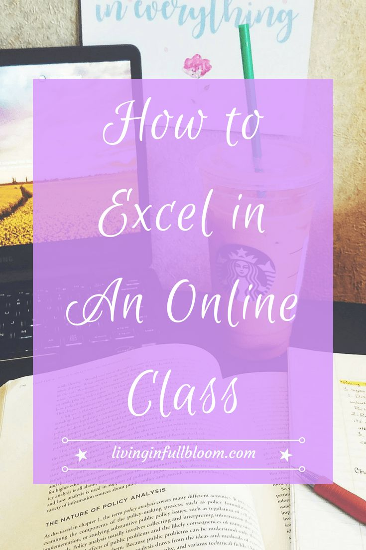 Today's post has all the advice a high school or college student needs to excel in an online class!