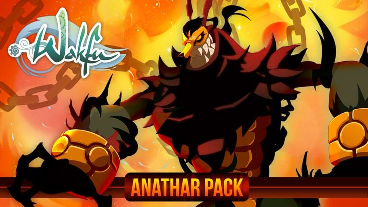 [ $19.91 ] WAKFU - Anathar Pack. Be ready to face the World of Twelve with exclusive and powerful items! Leading Rushu's armies, Anathar is considered one of the most powerful and dangerous Shushus who came from the Shukrute into the World of Twelve. He can copy the powers of anyone he's touched and keep items in his belly. For years, he was kept by the Justice family who swore to protect the world from the Shushus.