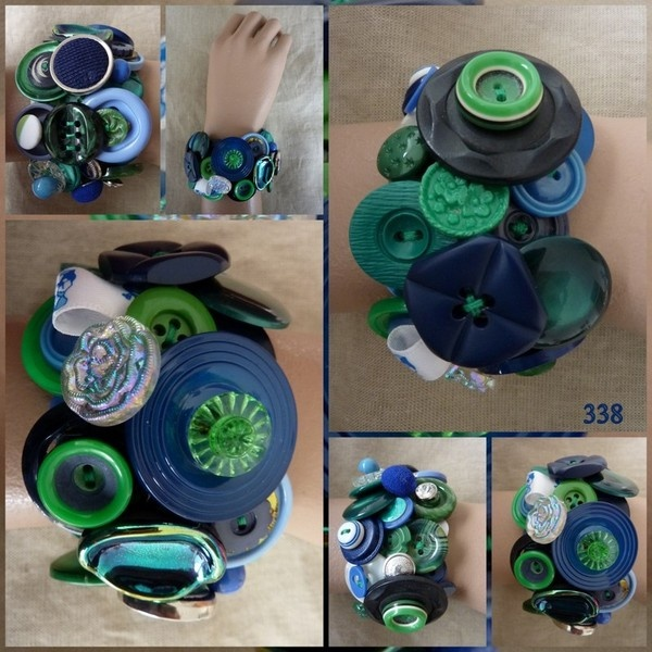 Marijke van Groen decoratieve knopenarmbanden.  De grootste collectie  handgemaakte knopen sieraden in Nederland.  Elke armband bestaat uit 40-60 m...