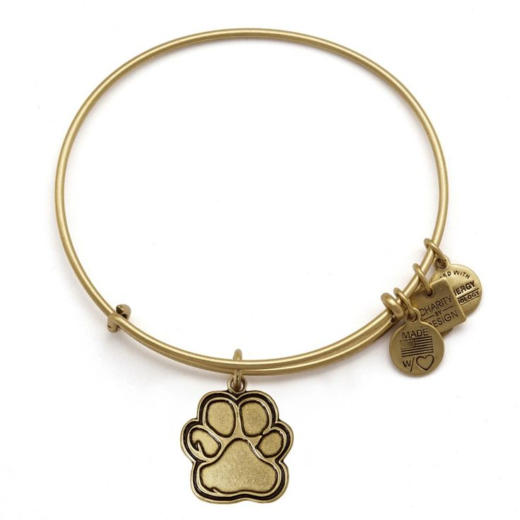 Have: Prints of Love Rafaelian Gold Finish Charm Bangle Companionship • Love • Support (American Society for the Prevention of Cruelty to Animals® (ASPCA®)) #AlexandAni