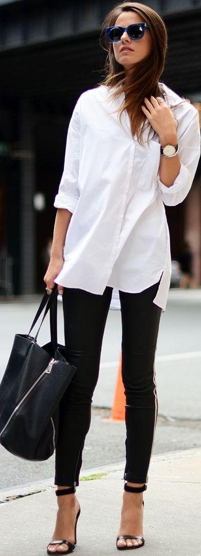 That white shirt.  Via @anamayra07. #whiteshirt #leggings                                                                                                                                                                                 More
