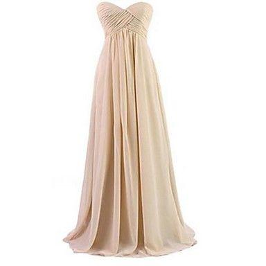 o linie podea-lungime rochie sifon de seara dragă – USD $ 61.74