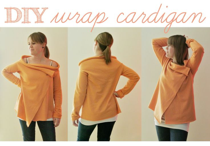 DIY - simple wrap cardigan